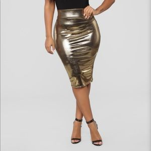 Fashion Nova Heart of Gold midi skirt
